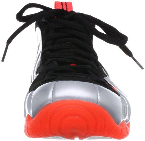 Nike Air Foamposite Pro Männer Basketballschuhe Mtlc Platinum / Blk-Brght Crmsn