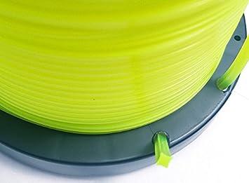 bazargiusto hilo cuadro Desbrozadora 4 mm, bobina 1 kg ...