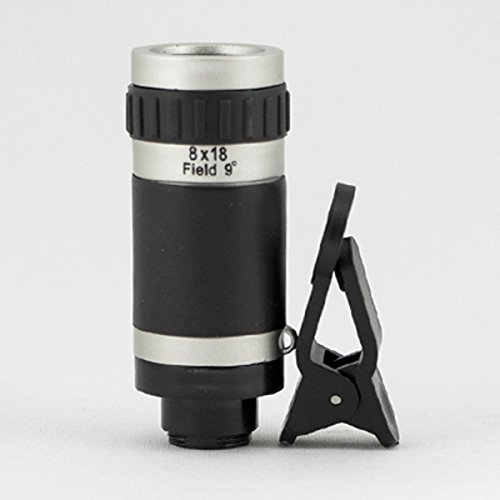 8X18 Optical Zoom Telephoto Camera Lens with Clip for any smartphone