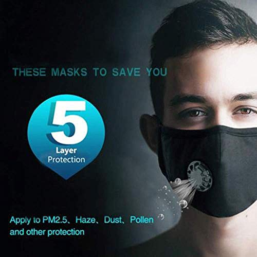 Washable Reusable P2 Anti Air Pollution Face Mask with 4pcs Filters