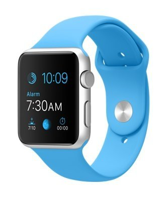 Apple Watch Series 1 42mm Silver Aluminum Case with Light Blue Sport Band (Certified Refurbished)
