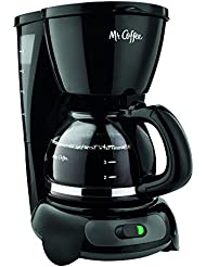 Mr. Coffee 4-Cup Switch Coffee Maker with Gold Tone Filter, Black