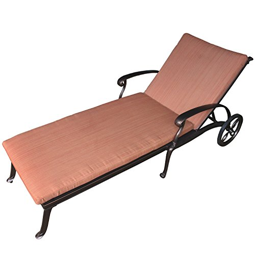 Chaise Cast - YONGCUN Outdoor Cast Aluminum Chaise Lounges Patio Adiustable Powder Coated Lounges with Seat Cushions