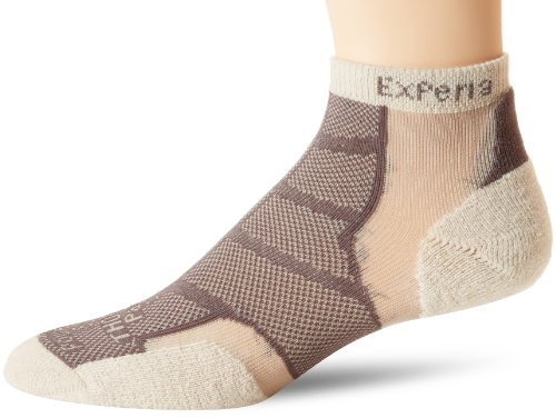 (Thorlos Experia Unisex XWCU Multi-Sport Thin Padded Low Cut Sock, Khaki I, Xsmall)