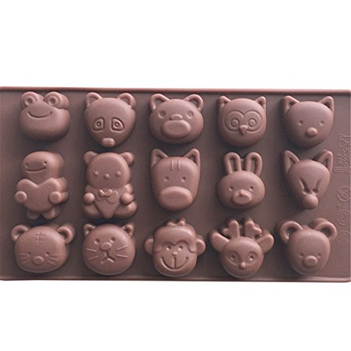 - FantasyDay Premium 15-Cavity Animal Zoo Chocolate Silicone Baking Mold for Holiday Chocolate Truffle, Cookies, Fudge, Ice Cube, Candy, Gummy and More #2