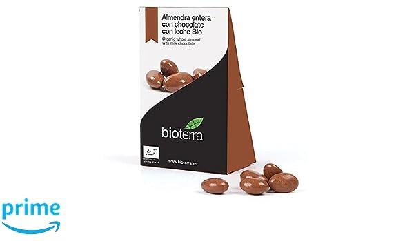 BIOTERRA Almendras ecológicas con chocolate con leche Bio 100g: Amazon.es: Alimentación y bebidas
