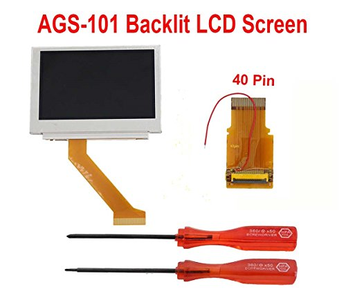 MOD LCD Backlight Kit 40 Pin GBA SP AGS-101 Backlit Screen for Gameboy Advance