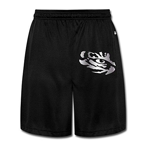 ONHSGBD Men's Lsu Tigers Eye Platinum Logo Shorts Sweatpants Black