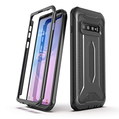 ULAK Knox Armor Designed for Galaxy S10 Plus Case, Slim Shockproof Full Body Rugged Protective Phone Cover for Samsung Galaxy S10+ Plus 2019 Without Built-in Screen Protector, Black