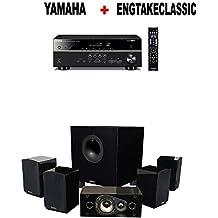 Yamaha RX-V485BL 5.1-Channel 4K Ultra HD AV Receiver + Energy 5.1 Take Classic Home Entertainment System (Set of Six, Black) Bundle