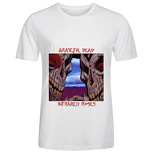 Grateful Dead Infrared Roses Tracks Men Round Neck Cool Shirts White - Judge Judy Free Book