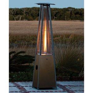 High Quality Mocha Pyramid Flame Patio Heater 40,000 Btuu0027s, 10u0027 Diameter Heat Range