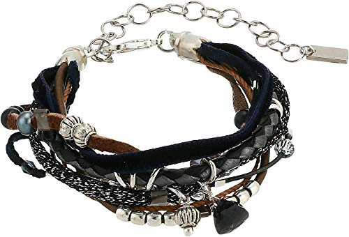 Chan Luu Women's Multi Strand Bracelet Blue Mix One Size ()