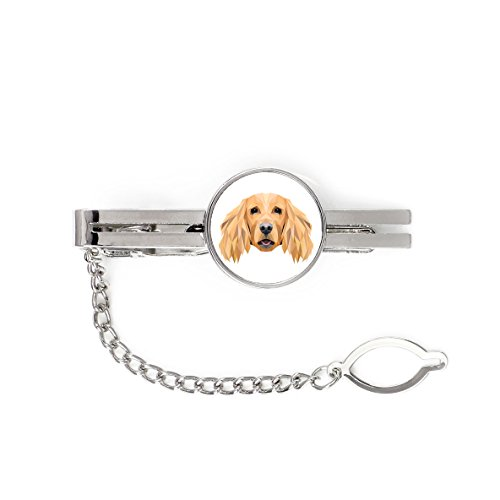 English Cocker Spaniel, tie pin, clip with an image of a dog, elegant, geometric