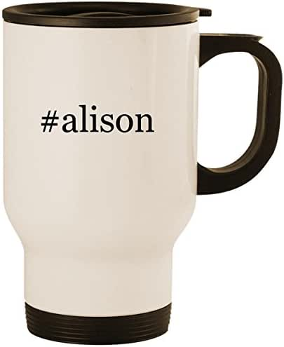 #alison - Stainless Steel 14oz Road Ready Travel Mug, White