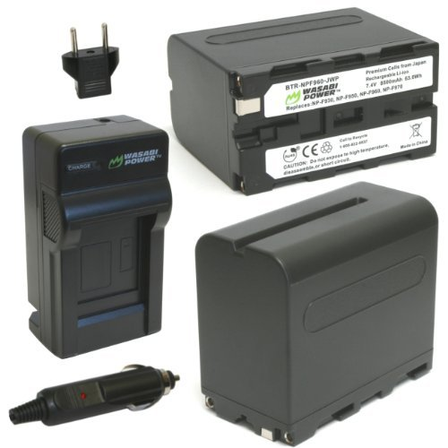 Sony Np F770 Infolithium Battery - Wasabi Power Battery (2-Pack) and Charger for Sony NP-F975, NP-F970, NP-F960, NP-F950