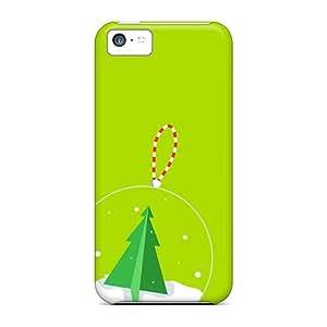 Premium Durable Christmas Ornament Fashion Tpu Iphone 5c Protective Case Cover