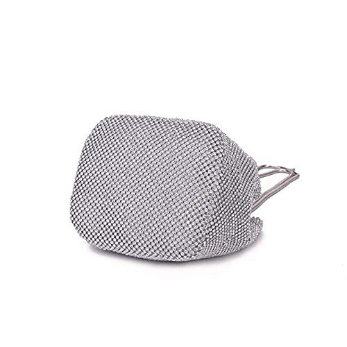 Clutch Purse Evening Designer Bag Bucket Silver EROUGE Wedding Crystal Handbag Women Ladies Rhinestone Prom for vUwgz8q