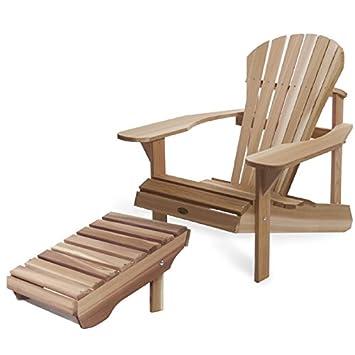 Conjunto silla Athena Muskoka/silla Adirondack y reposapiés ...