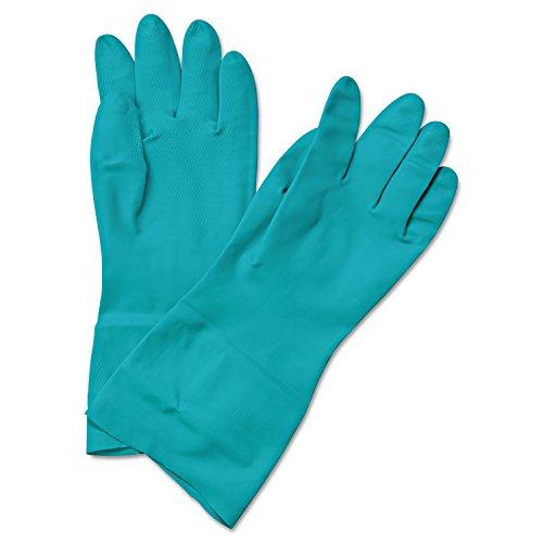 Lined Green Flock (Boardwalk 183S Flock-Lined Nitrile Gloves, Small, Green, 1 Dozen)