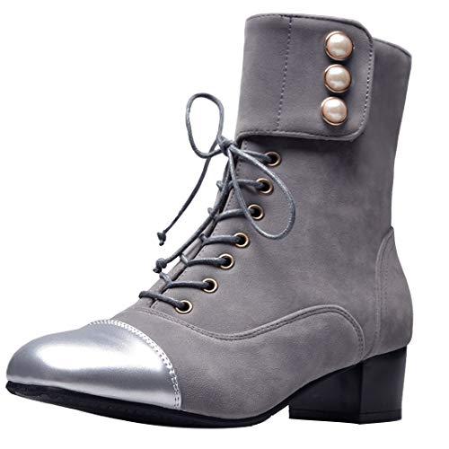 12c57f59abd7 Mavirs Womens Mahelp Block Heel Ankle-high 4 4 4 cm Boots B07GK34RGX Shoes  f55092