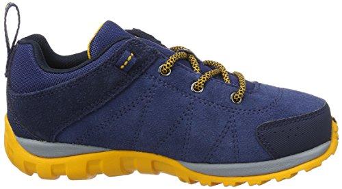 Columbia Youth Venture, Zapatillas de Deporte Exterior para Niños Azul (Carbon/ Super Solarize)