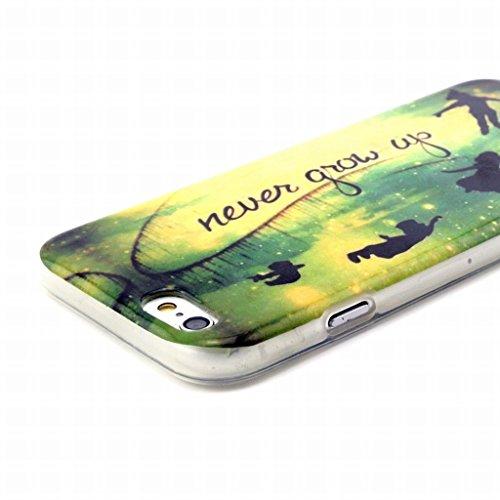 Pour Apple iphone 6 6S (4.7) Coque Etui, Ougger [Haute qualité] Unique Soft Mince Transparent TPU Caoutchouc Silicone Léger Protecteur Coquille Skin Housse (Série Peints 24)