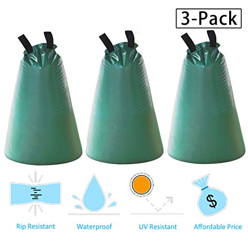 Gardzen 3-Pack 15 Gallons Tree-Watering Drip Irrigation Bags, for Newly Planted Trees, Slow Release ()
