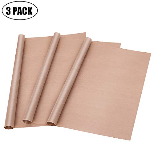 3 Pack Teflon Sheet for Heat Press Transfer Sheet Non Stick PTFE About 16 x 20