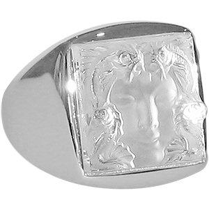 LALIQUE Masque de Femme Signet Ring - M
