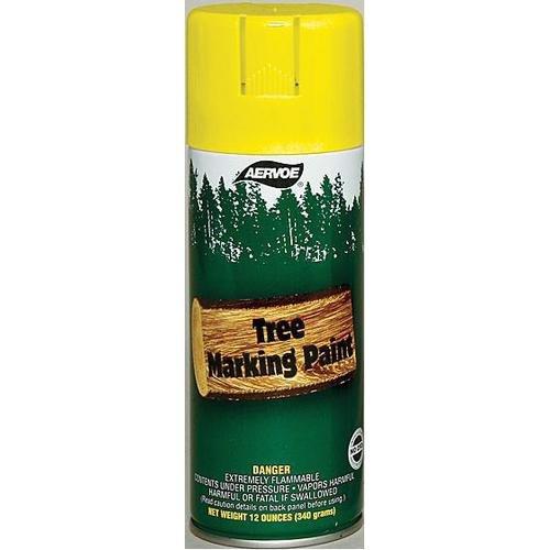 Wet Coat Tree Marking Paint, Yellow, 16 oz