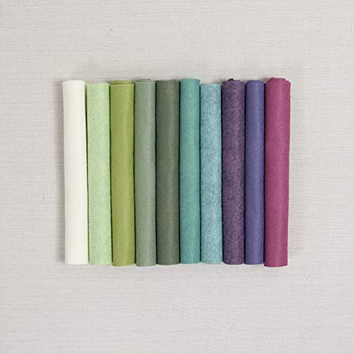Wool Felt, Succulent Palette, 10 Sheets of Wool Blend Felt (10 12x18 inch Sheets)