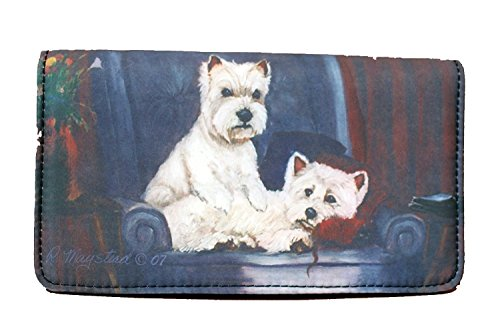 (West Highland White Terrier Dog 4 1/4'' x 7 1/4'' wallet by Ruth)