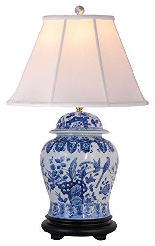 East LPDBWN0813E Table Lamp, Blue/White