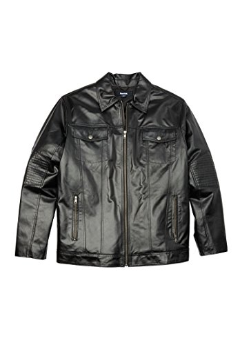 Kingsize Mens Leather Bomber Jacket