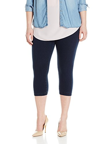 Lysse Women's Plus-Size Denim Capri, Indigo, 2X