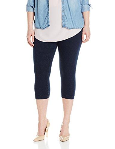 Lysse Women's Plus-Size Denim Capri, Indigo, 2X