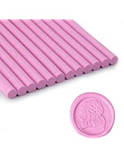 Pink Wax Seal Sticks, Glue Gun Sealing Wax Sticks for Wax Seal Stamp, Great for Wedding Invitations, Letter Envelopes (Pink)