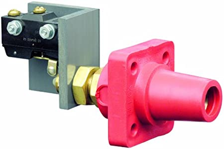 Female Panel Connector Taper Nose Leviton 16RSW-R 16 Series Red Cam Type with Micro switch Continuous Cable Range