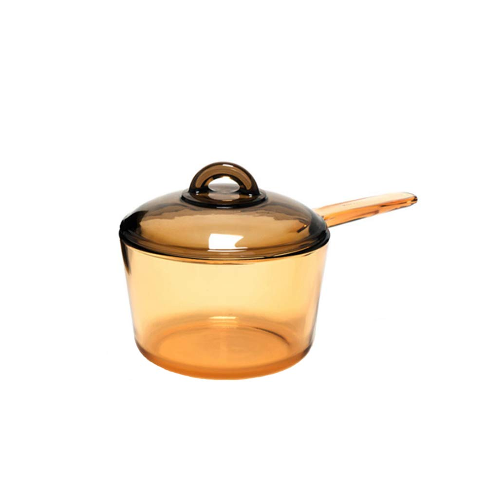 Luminarc Amberline Blooming Heat-resistant Glass Cooking Saucepan Pot 1.5L (Slight imperfection on handle)