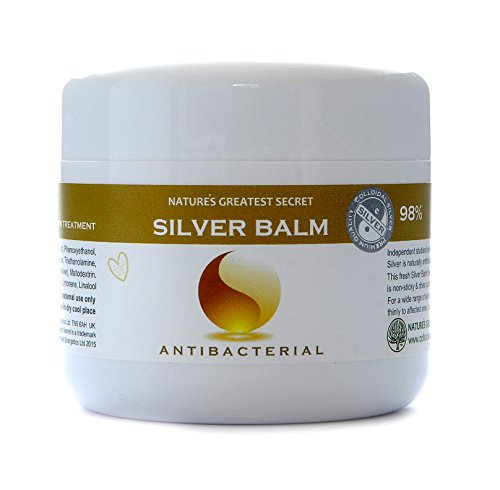 Effective 80% Colloidal Silver Balm - Amber Formula - Antifungal, Antibacterial 150 ml Soothing Gel