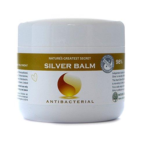 Effective 80% Colloidal Silver Balm - Amber Formula - Antifungal, Antibacterial 150 ml Soothing Gel