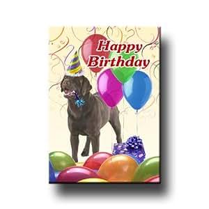 Amazon.com: Labrador Retriever Happy Birthday Fridge