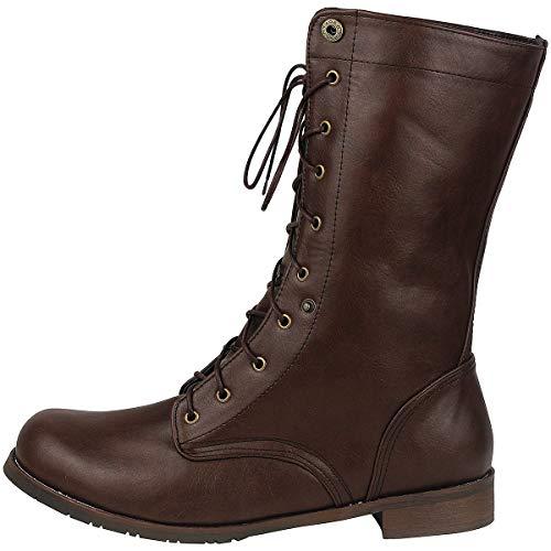 Botas Zapatos Hombres Mas Marrón Martin Cima Alta De Caballero Retro Cordón Wealsex Hombre fqS5B