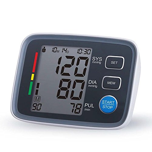 Automático de brazo tipo tensiómetro con Bluetooth, pantalla LCD, el error de más o menos 5%, casa Indicador de la presión arterial: Amazon.es: Deportes y ...