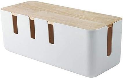 Jackallo Aufbewahrungsbox Für Stromkabel Aus Holz Rechteckige Kabelaufbewahrungsbox Mit Holzabdeckung Für Tv Computer Schalttafel Rechteckige Steckdosenleiste Küche Haushalt