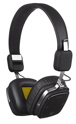 KitSound Clash Evolution Wireless Bluetooth On-Ear Headphone with Microphone - Black