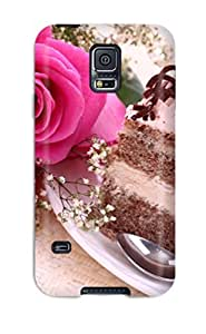 Zheng caseTpu Case Cover Compatible For Galaxy S5/ Hot Case/ Cake And Roses