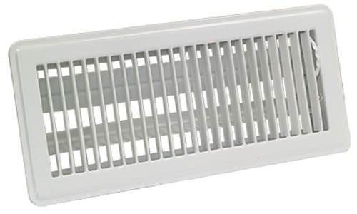 - EZ-FLO 61638 Steel Floor Air Diffuser with Louvered Design with Grille Opening of 6-Inch x 12-Inch, White