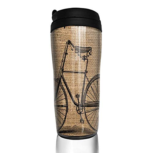 Custom Reusable Coffee Cups Life's A Journey Enjoy The Ride Vacuum-Insulated Travel Mugs Hot Or Cold,12 Oz.with ()